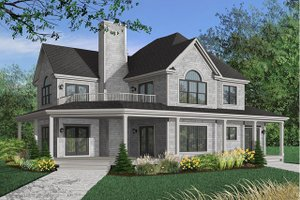 Dream House Plan - Farmhouse Exterior - Front Elevation Plan #23-383