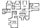 European Style House Plan - 5 Beds 4.5 Baths 4619 Sq/Ft Plan #490-5 Floor Plan - Upper Floor Plan