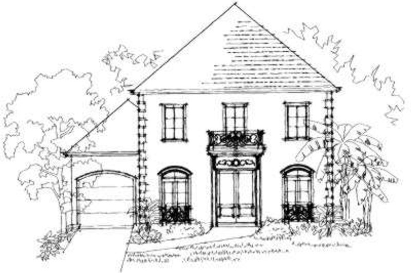 Southern Exterior - Front Elevation Plan #325-156