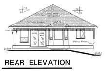 Home Plan Design - Traditional Exterior - Rear Elevation Plan #18-166