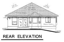 House Blueprint - Traditional Exterior - Rear Elevation Plan #18-166