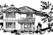 European Style House Plan - 4 Beds 2.5 Baths 1684 Sq/Ft Plan #18-224 Exterior - Front Elevation