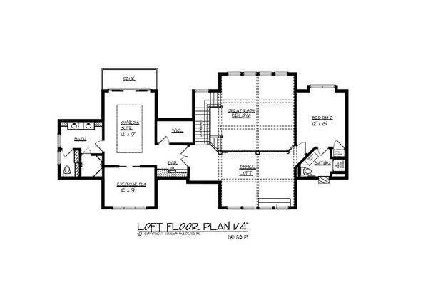 Craftsman Floor Plan - Upper Floor Plan Plan #320-503