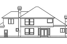 Dream House Plan - Prairie Exterior - Rear Elevation Plan #48-443