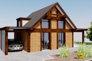 Modern Style House Plan - 2 Beds 1 Baths 543 Sq/Ft Plan #542-8 Exterior - Other Elevation