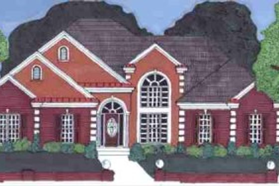 Southern Exterior - Front Elevation Plan #69-133