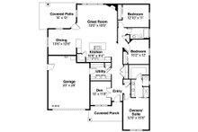 Country Floor Plan - Main Floor Plan Plan #124-926