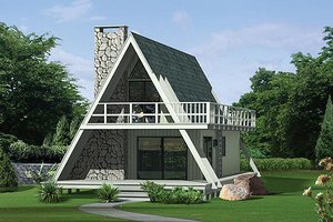Home Plan - Cottage Exterior - Front Elevation Plan #57-481