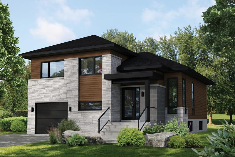House Plan Design - Contemporary Exterior - Front Elevation Plan #25-4899
