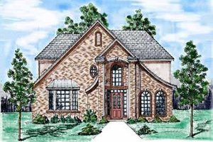House Design - European Exterior - Front Elevation Plan #52-163