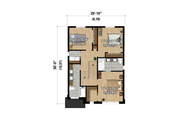 Contemporary Style House Plan - 3 Beds 2 Baths 1588 Sq/Ft Plan #25-4873