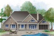 European Style House Plan - 4 Beds 3 Baths 2485 Sq/Ft Plan #929-25 Exterior - Rear Elevation
