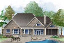Dream House Plan - European Exterior - Rear Elevation Plan #929-25