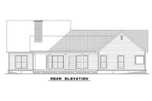 House Plan Design - Rear view of 1800 square foot Traditional home