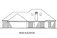 Home Plan - European Exterior - Rear Elevation Plan #45-361