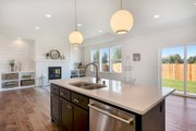 Craftsman Style House Plan - 3 Beds 2 Baths 1702 Sq/Ft Plan #1070-24 Interior - Kitchen