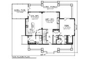 Craftsman Style House Plan - 3 Beds 2.5 Baths 2225 Sq/Ft Plan #70-1494 Floor Plan - Main Floor