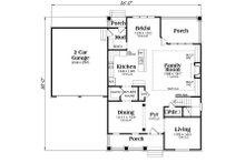 Farmhouse Floor Plan - Main Floor Plan Plan #419-258