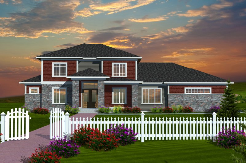Home Plan - Traditional Exterior - Front Elevation Plan #70-1127