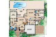 Mediterranean Style House Plan - 5 Beds 5 Baths 4428 Sq/Ft Plan #27-428 Floor Plan - Main Floor Plan