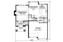 Contemporary Floor Plan - Main Floor Plan Plan #46-893