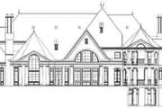 European Style House Plan - 5 Beds 5 Baths 8280 Sq/Ft Plan #119-211 Exterior - Rear Elevation