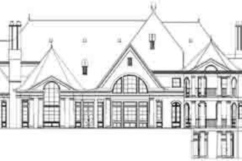 European Exterior - Rear Elevation Plan #119-211 - Houseplans.com