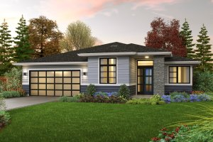 Dream House Plan - Contemporary Exterior - Front Elevation Plan #48-1036