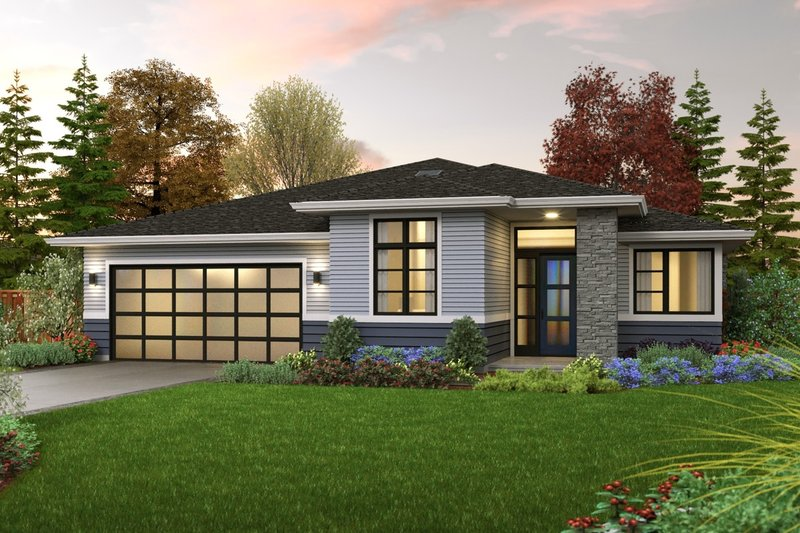 Home Plan - Contemporary Exterior - Front Elevation Plan #48-1036