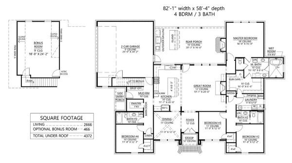 House Plan Design - Country Floor Plan - Main Floor Plan #1074-46