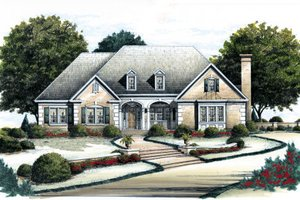 House Plan Design - Traditional Exterior - Front Elevation Plan #429-28