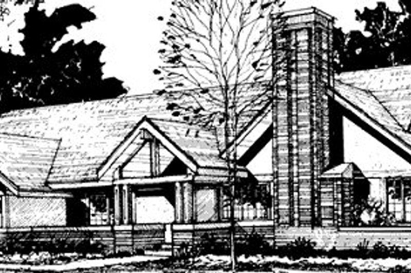 Bungalow Exterior - Front Elevation Plan #320-336
