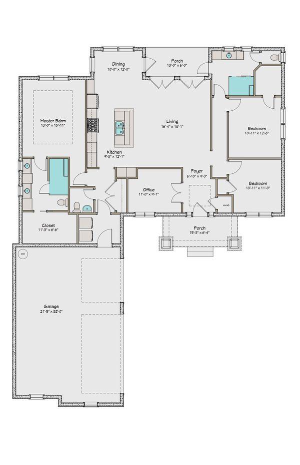 Craftsman Floor Plan - Main Floor Plan #461-43