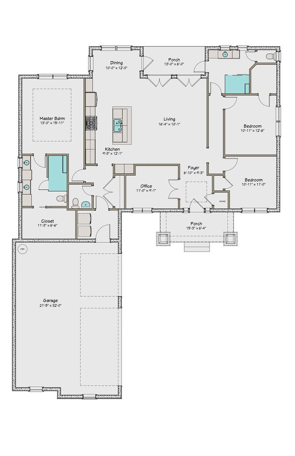 Craftsman Floor Plan - Main Floor Plan Plan #461-43