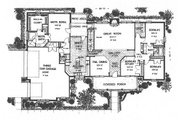 Country Style House Plan - 4 Beds 2.5 Baths 2642 Sq/Ft Plan #310-622 Floor Plan - Main Floor