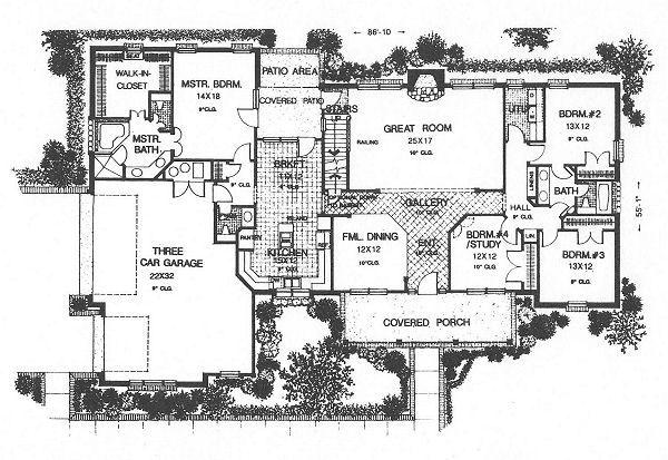 Country Floor Plan - Main Floor Plan Plan #310-622