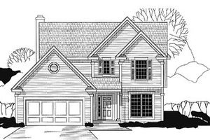 Traditional Exterior - Front Elevation Plan #67-163