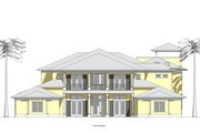 Southern Style House Plan - 5 Beds 7.5 Baths 6300 Sq/Ft Plan #481-9 Exterior - Front Elevation