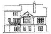 Craftsman Style House Plan - 4 Beds 3.5 Baths 2619 Sq/Ft Plan #927-4 Exterior - Rear Elevation