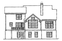 Architectural House Design - Craftsman Exterior - Rear Elevation Plan #927-4