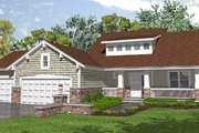 Bungalow Style House Plan - 3 Beds 2.5 Baths 2281 Sq/Ft Plan #50-127 Exterior - Front Elevation