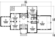 European Style House Plan - 4 Beds 2 Baths 3873 Sq/Ft Plan #25-4757 Floor Plan - Main Floor Plan