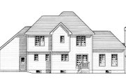 European Style House Plan - 3 Beds 2.5 Baths 1859 Sq/Ft Plan #316-120 Exterior - Rear Elevation
