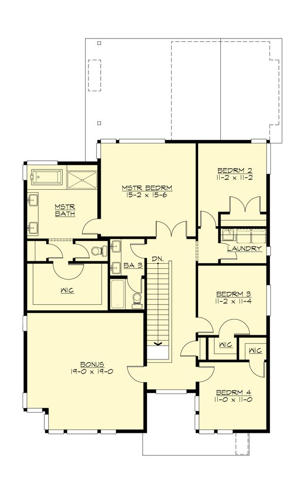 Modern Floor Plan - Upper Floor Plan Plan #132-225