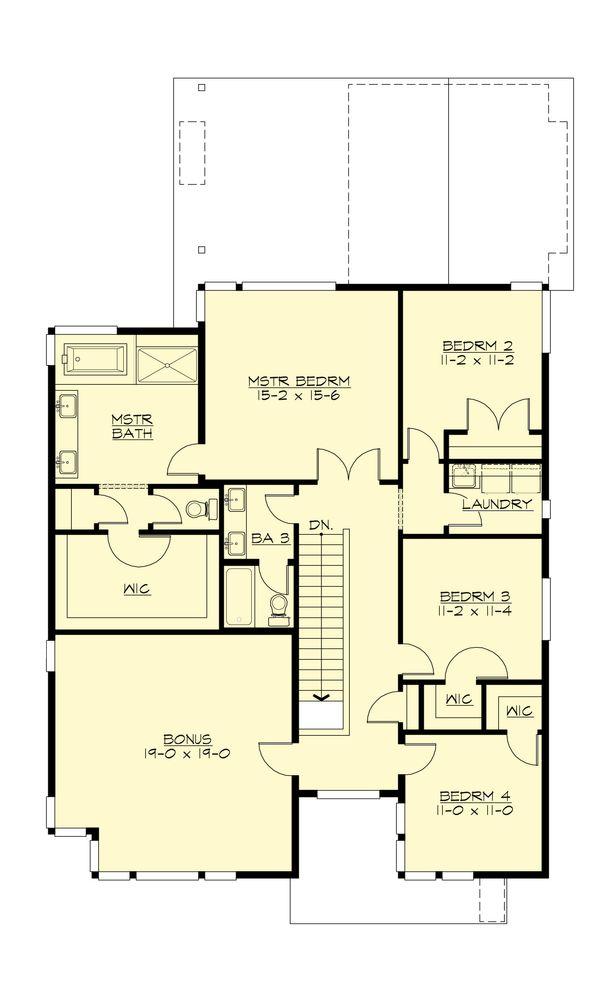 Home Plan - Modern Floor Plan - Upper Floor Plan #132-225