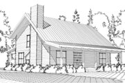 Log Style House Plan - 3 Beds 2.5 Baths 2319 Sq/Ft Plan #63-280 Exterior - Front Elevation