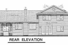 House Blueprint - Country Exterior - Rear Elevation Plan #18-259