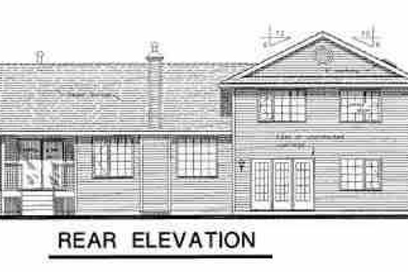 Country Exterior - Rear Elevation Plan #18-259 - Houseplans.com