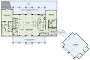 European Style House Plan - 5 Beds 4.5 Baths 4469 Sq/Ft Plan #17-2567 Floor Plan - Main Floor Plan