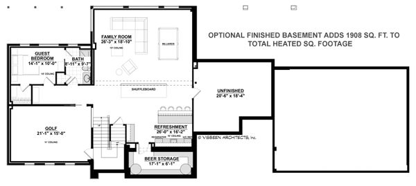 Contemporary Style House Plan - 3 Beds 3.5 Baths 4469 Sq/Ft Plan #928-315 Floor Plan - Other Floor Plan